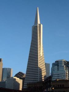 The TransAmerica pyramid in San Francisco