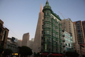 columbus tower landmark in san francisco